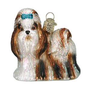 Old-World-Christmas-SHIH-TZU-Dog-12172-N-Glass-Ornament-w-OWC-Box