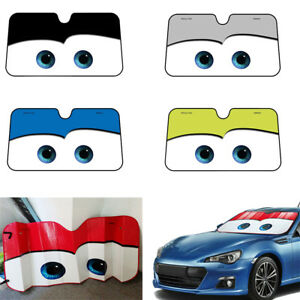 Aluminium Cute Cartoon Car Windshield Sun Shade Big Eyes Auto Front ... 4f0fcafaa98