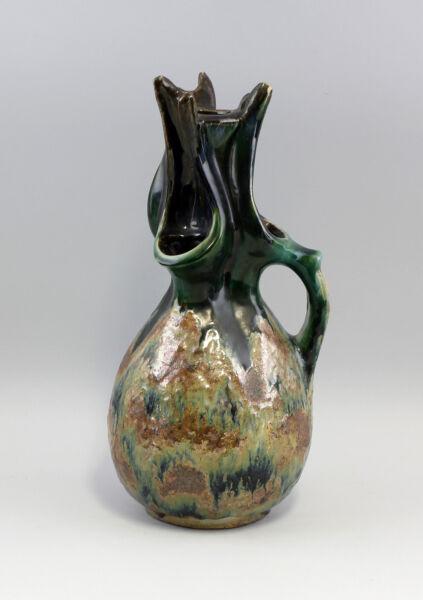 2019 Mode 99845108 Ausgefallene Henkel-vase Keramik Jugendstil Lüstriert Wir Nehmen Kunden Als Unsere GöTter