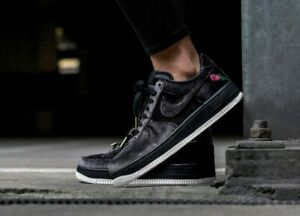 Details about New Nike Air Force 1 '07 QS Shoes Street Casual Velvet Rose Satin Black White