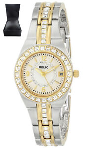 REDUCED-Relic-Women-039-s-Ladies-ZR11775-Queen-039-s-Court-Silver-amp-Gold-Watch-RRP-140