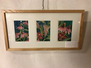 """Painting Watercolor By Emma Lou Martin 11""""X21"""". See9pix4size&details. MAKE OFFER"""