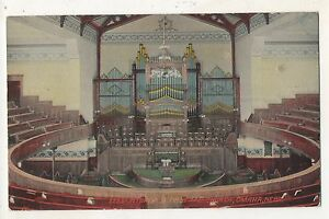 Interior-First-Methodist-Church-OMAHA-NE-Vintage-Nebraska-Postcard
