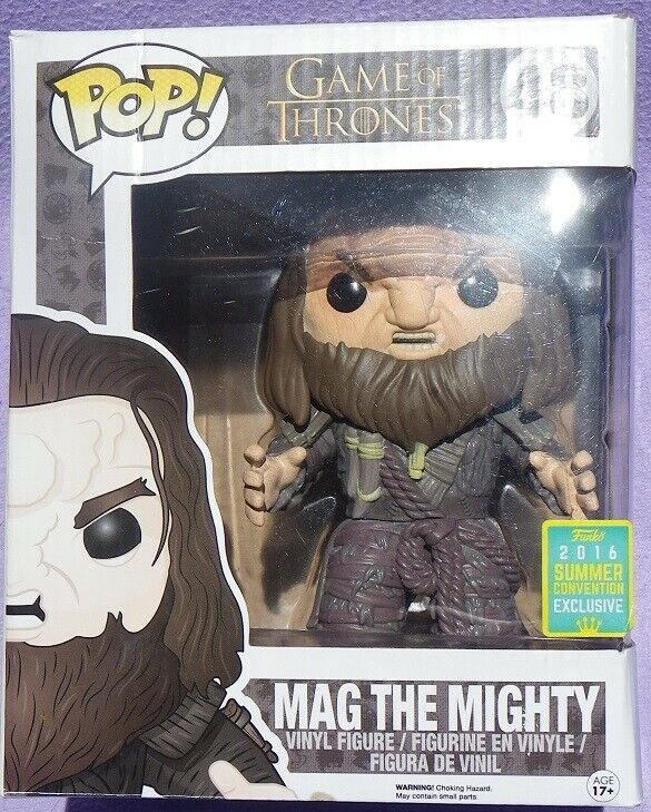 MAG THE MIGHTY grande Größe Game of Thrones Pop Funko n° 48 SDCC Convention NEW