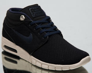Detalles de Nike Sb Stefan Janoski Max Medio Lifestyle Zapatos Negro Obsidiana Phantom