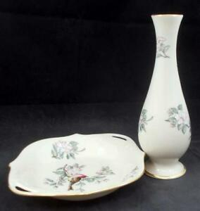 Lenox-China-SERENADE-Open-Candy-Dish-and-Bud-Vase-GREAT-CONDITION