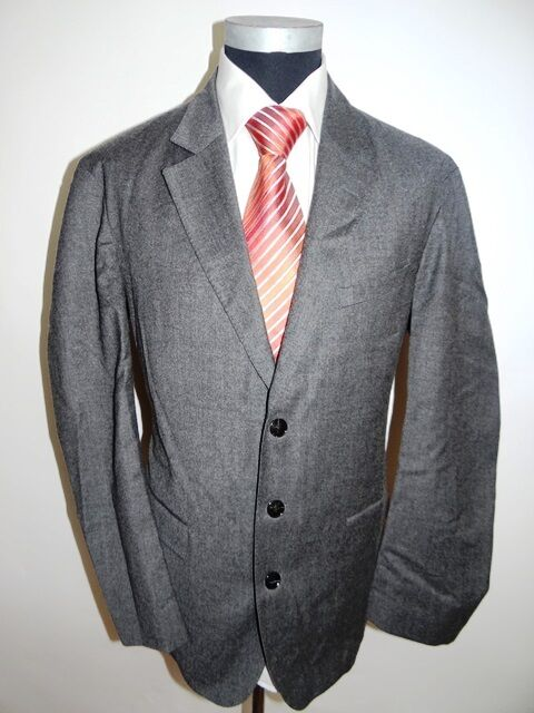 Joop Sakko Elegance Einreiher grey Unifarben Schurwolle Gr. 54