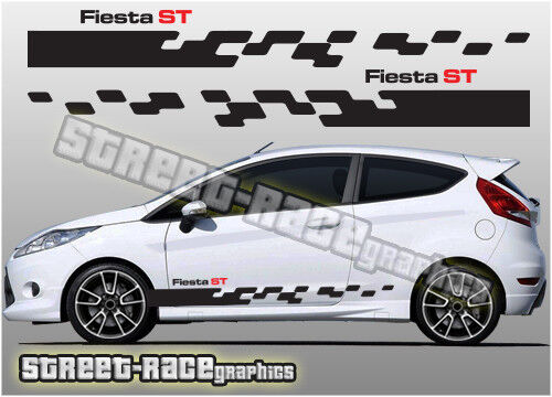 Ford Focus side racing stripes 004A decals stickers graphics vinyl ST