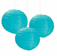 12 Turquoise Paper Chinese Lanterns Centerpieces Wedding Party Decorations