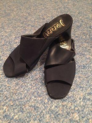 Jenny modisch bequem Ladies Negro Bloque Tacón Alto Sandalia Zapatos Talla Uk 6.5 Hecho en