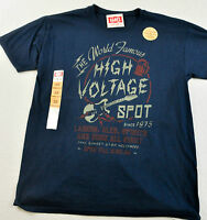 NWT! MEN'S HANES T-SHIRT SIZE SMALL PRINTED FRONT SHORT SLEEVE BLUE/GRAY