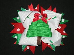 "NEW ""CHRISTMAS TREE"" Polka-Dot Alligator Clips Girls ..."