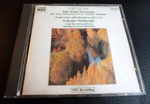 CD Vivaldi - The Four Seasons NAXOS Takako Nishizaki Vier Jahreszeiten Suzuki