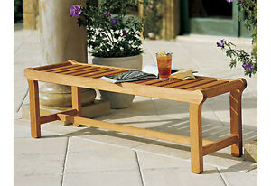 Revni Grade-A Teak Wood Backless Bench (55) Chair Outdoor Garden Furniture