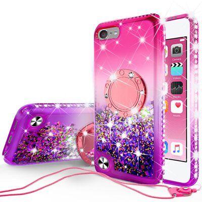 iPod Touch 5/6th Generation Cute Liquid Glitter Phone Case ...
