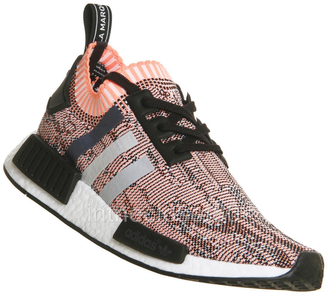 Adidas NMD R1 W PrimeKnit Tricolor Black Onix Sun Glow Peach Pink BB2361 Womens