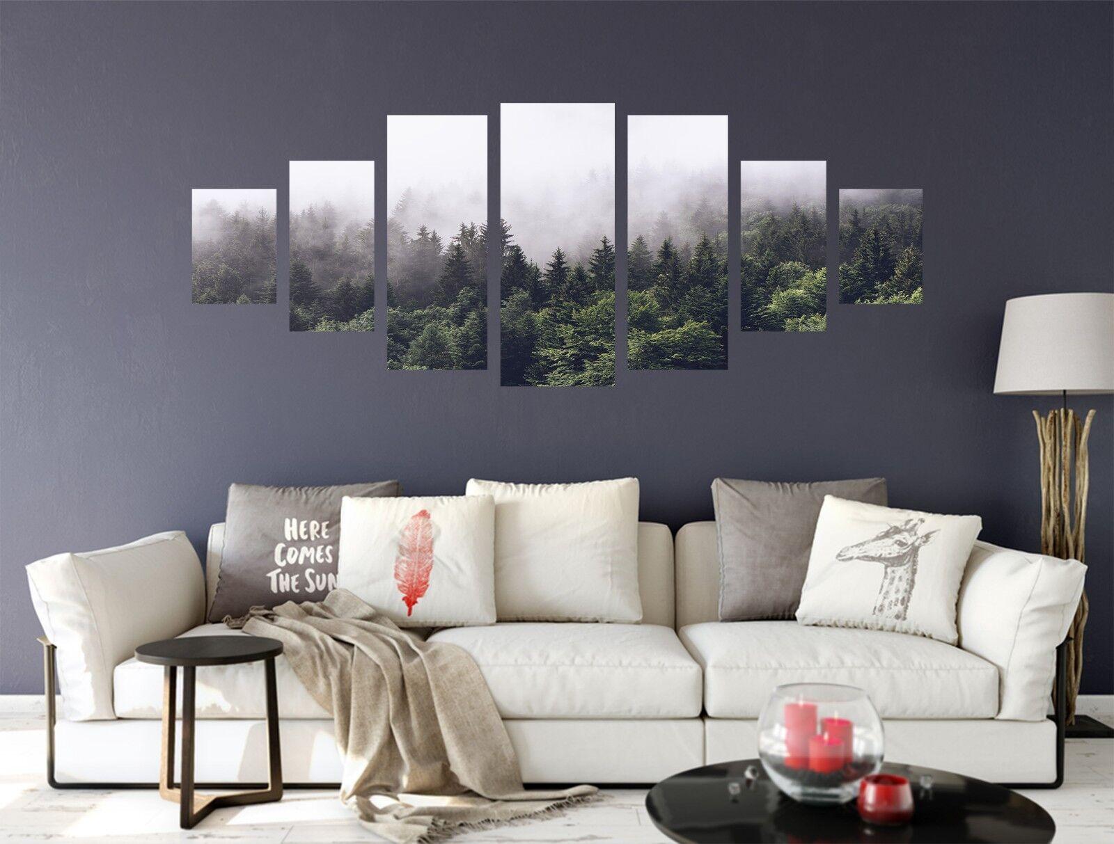 Niebla de bosque 3D 567 impresión sin enmarcar Papel de Parojo Calcomanía Decoración De Parojo Parojo Interior AJ