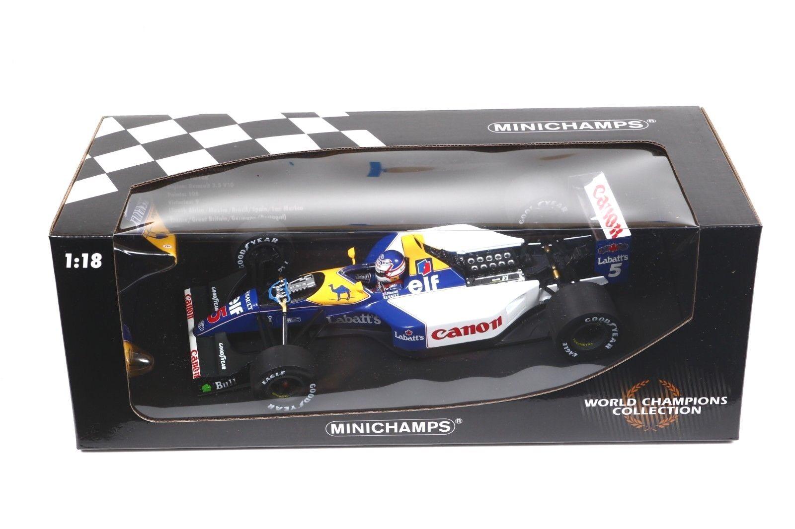 Minichamps F1 1 18 1992 Nigel Mansell Williams FW14 serie campeón del mundo