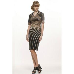 JADORE-SD102-Gold-Spiral-Dress-Gold-Black-size-8