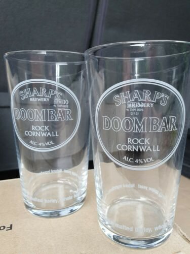 "New Stock 2 x SHARP/'S BREWERY /""DOOM BAR/"" Pint Glasses"