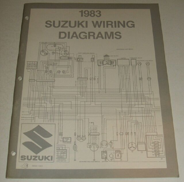 1983 Suzuki Wiring Diagram Manual Gn Dr Sp Gs 125 450 550