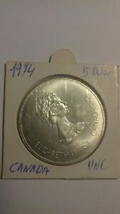 CANADA-1976-MONTREAL-OLYMPIC-0-925-SILVER-5-DOLLARS-COIN-FENCING-UNCIRCULATED