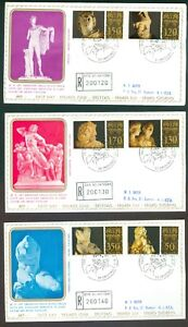 Vatican-City-Sc-617-22-Classical-Sculpture-on-Registered-FDC