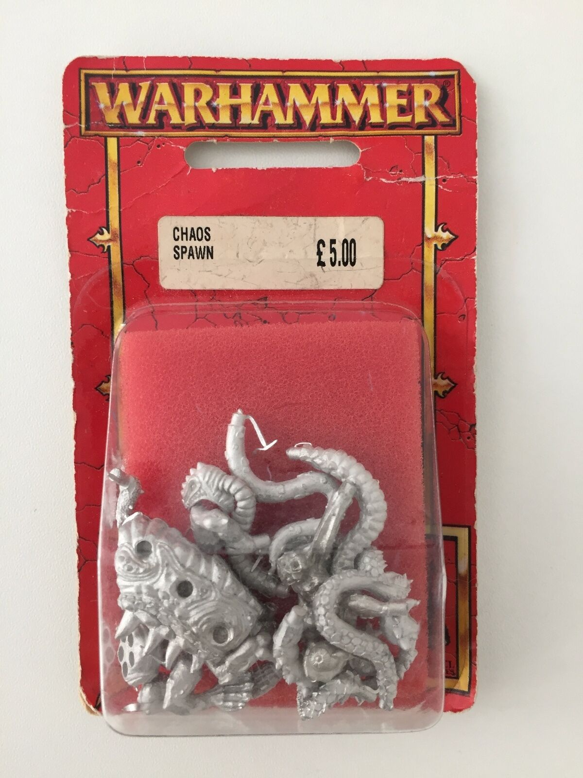 WARHAMMER CHAOS SPAWN NURGLE SLAANESH KHORNE TZEENTCH METAL BLISTER (RED 573)
