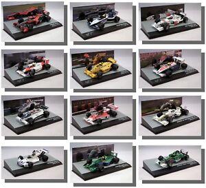 F1-formula-uno-modelos-Diecast-METAL-ESCALA-1-43-nueva