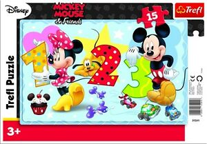 Trefl 15 Piece Baby Kids Unisex Mickey Minnie Mouse Frame Floor