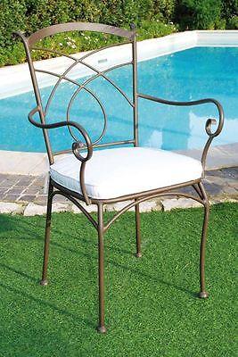 Poltrone In Ferro Battuto Da Giardino.Sedie Sedie Poltrone Poltrona Ferro Battuto Tavoli Tavolo Esterno Giardino New Ebay