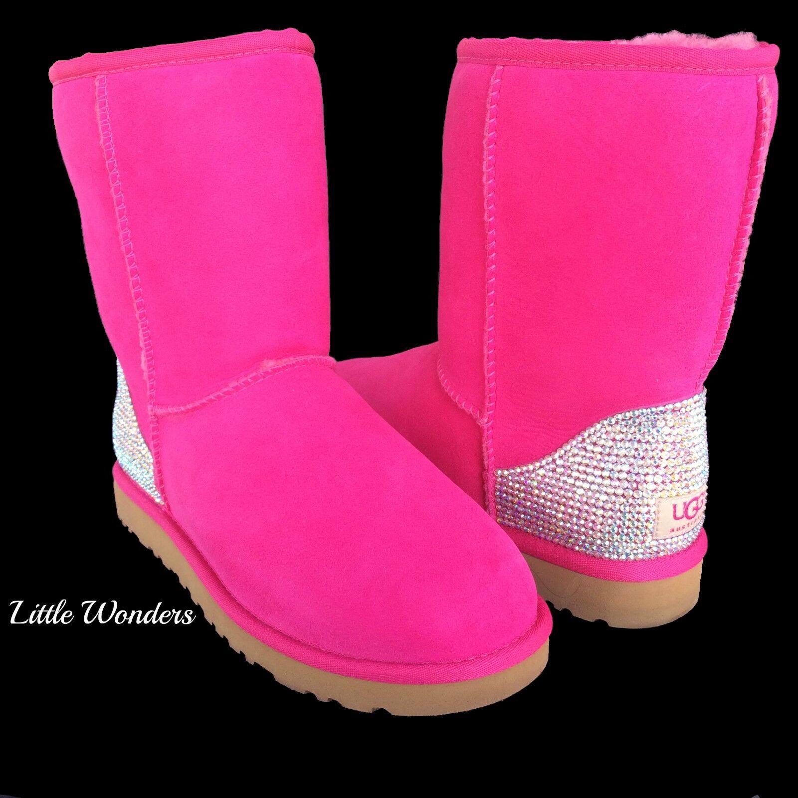 Swarovski Rhinesstone Women Topical Sunset Ugg Boots