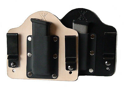 FoxX Leather /& Kydex IWB Hybrid Magazine Carrier Holster Sccy CPX-1 /& CPX-2 Ambi