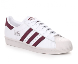 ADIDAS ORIGINALS SUPERSTAR 80S SNEAKERS COL.WHITE RED CASUAL VINTAGE STYLE MOD