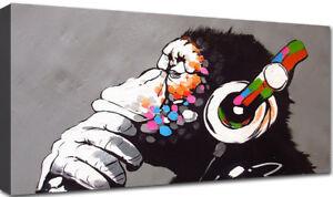 Quadri Moderni Stampa su Tela cm 100x50 120x60 XXL Arredo Quadro Moderno Banksy