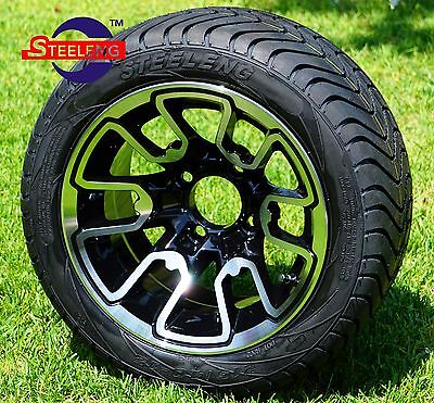 "GOLF CART 12"" M/B 'LIZARD' WHEELS / RIMS and 215/40-12 LOW PROFILE TIRES (4)"