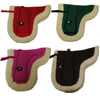 Faux Full Sheepskin Fleece Lined Soft Quilted Numnah Saddle Pad Cloth Pony Horse