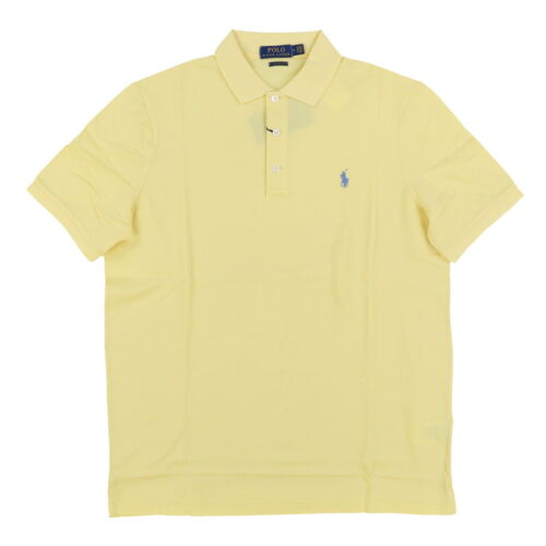 Polo Ralph Lauren Mens Classic Fit Stretch Mesh Polo Shirt 3 Button Pony Logo
