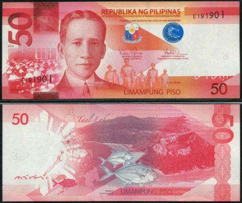 PHILIPPINES  50  PISO  2010  Prefix E  P 207 a  LOT 2 PCS  Uncirculated