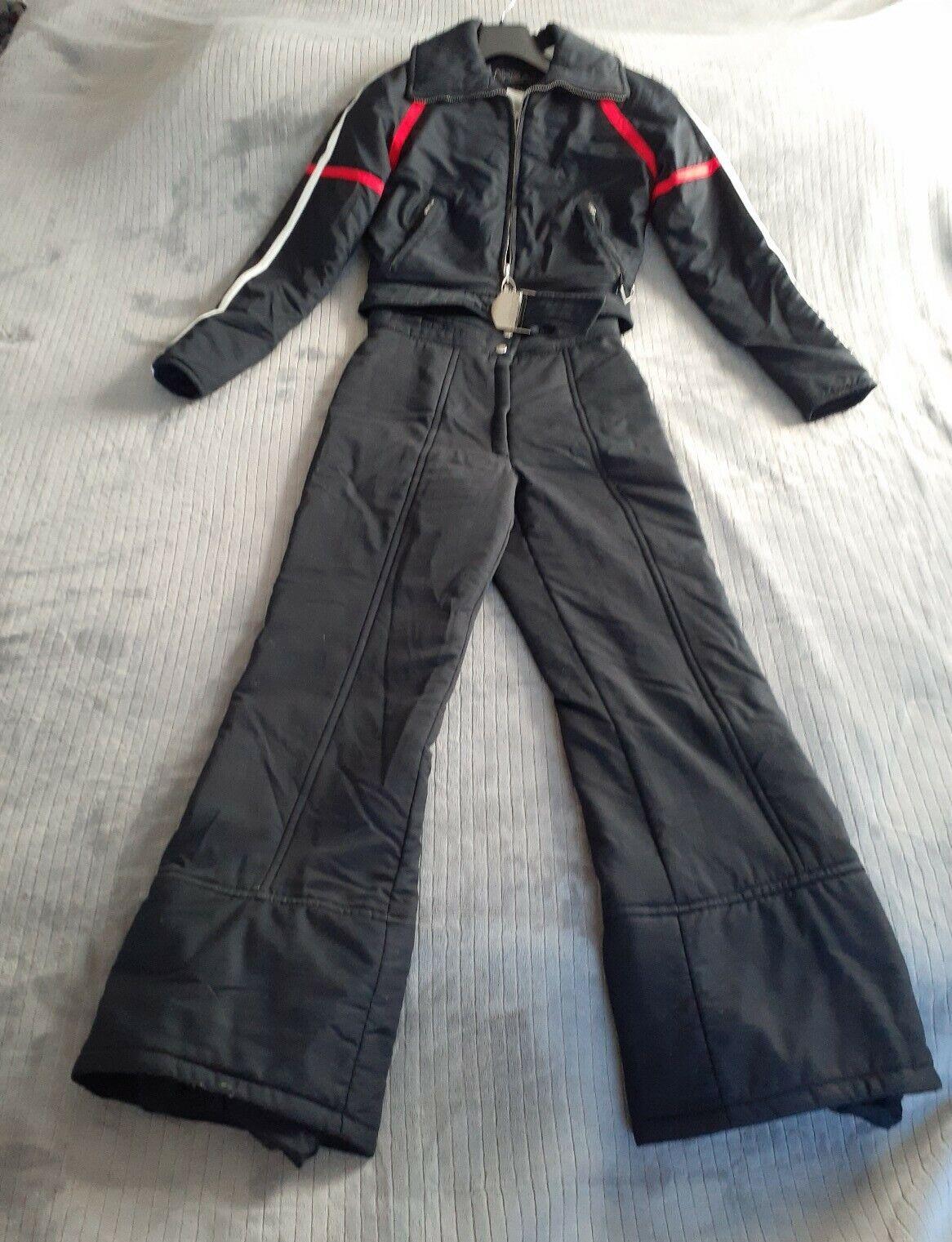 HEAD Sportswear Ski Wear damen Vintage 80's Snow Ski Suit 2 Piece BIB Größe 8