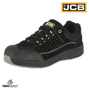 Steel Trainers Work Black Safety Toe Lightweight S1p Cap Shoes Ppe Trekker Jcb f8qI7w