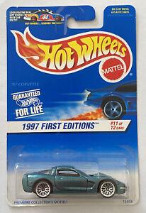 1997 HOTWHEELS 97 Chevy Corvette C5 V8 VERDE! Nuovo di zecca! molto RARO! MOC!