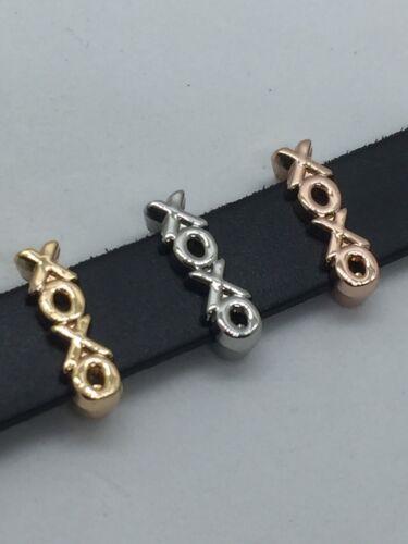 XOXO Slide Charm  for 10mm Slide Keep Bracelets