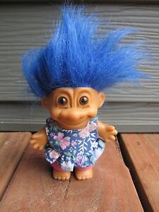 Image Is Loading Vintage Russ Berrie 4 034 Troll Blue