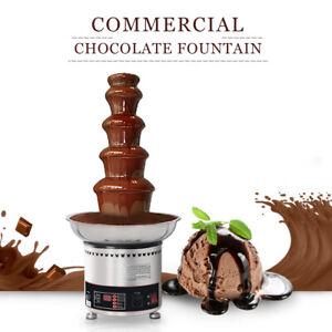 Commercial CE 220V 240V 304SS Luxury 5 Tiers Chocolate Fondue Fountain DE Stock