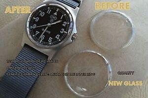 Top-QUALITY-cristallo-di-vetro-acrilico-Anello-Interno-Cromato-per-adattarsi-CWC-Esercito-Militare