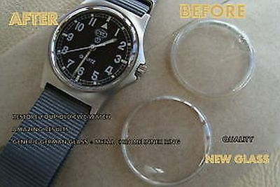 TOP QUALITY Acrylic GLASS crystal + INNER CHROME RING TO FIT CWC army military
