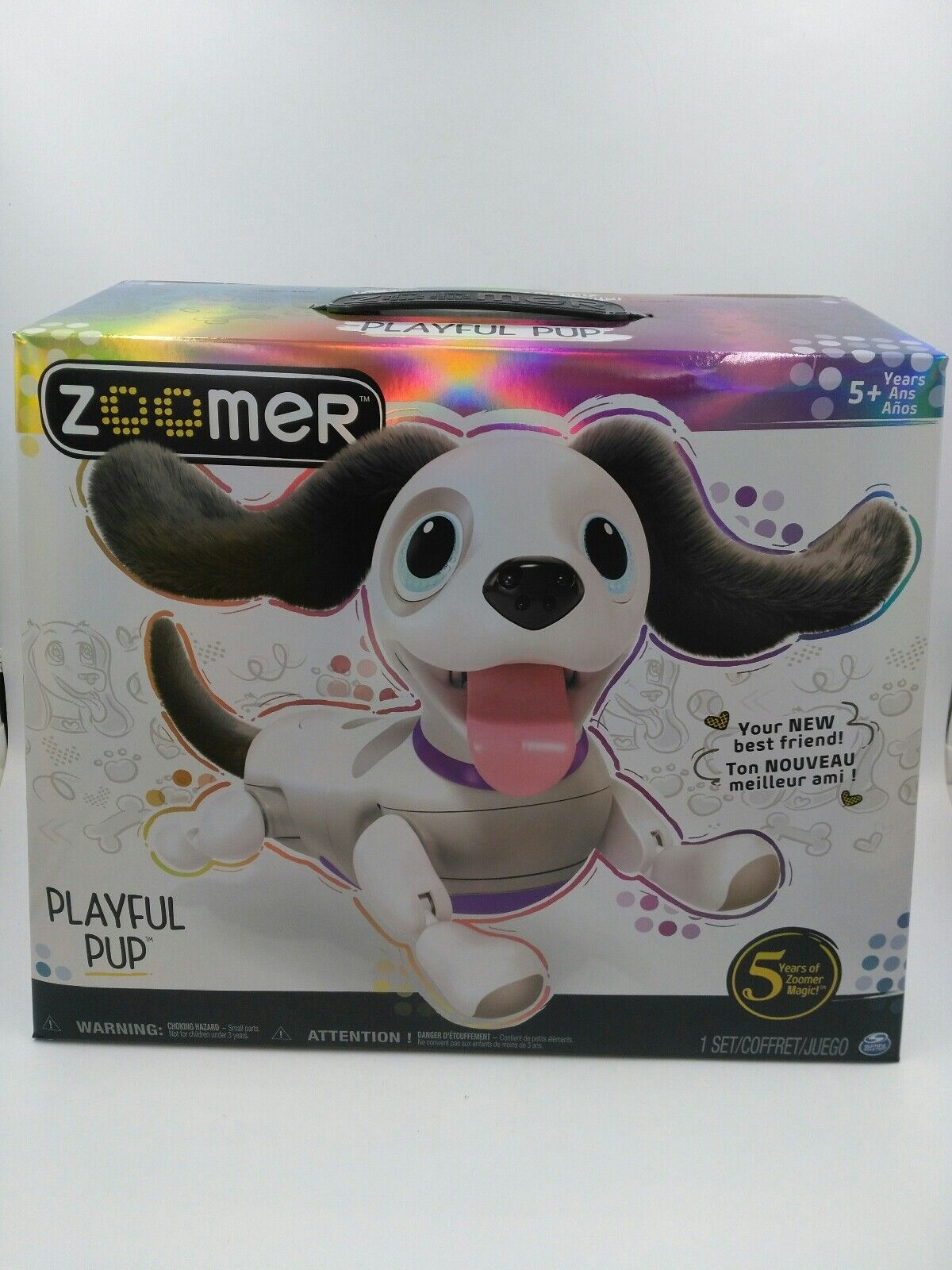 Zoomer Playful Pup, Responsive Robotic Dog with Voice Recognition & Realistic