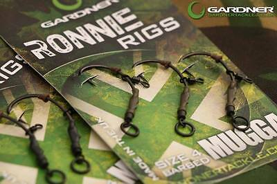 GARDNER TACKLE RONNIE RIGS BARBED//BARBLESS  SIZES 4//6 QUALITY