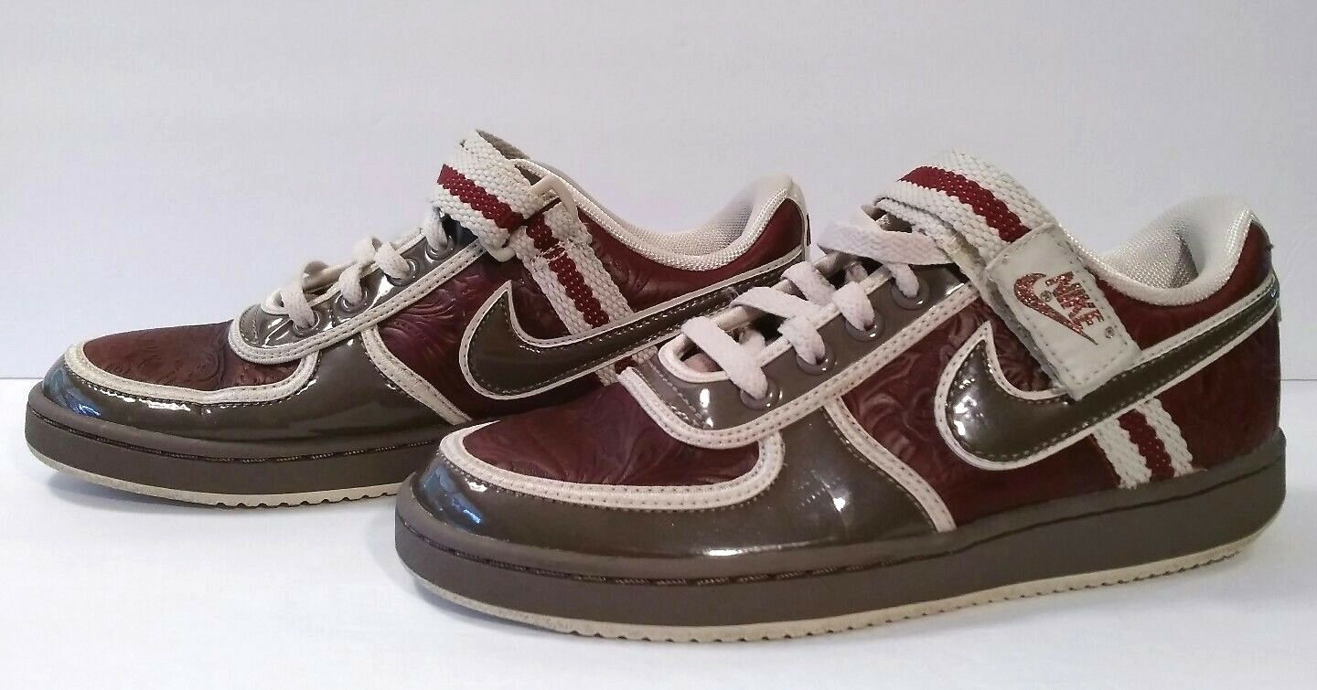 Rare Nike Womens Shoes Vandal Low ORWD Brown Red DEADSTOCK Laser Shoe Floral